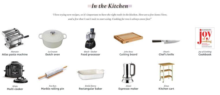 De keukenspullen zou Jennifer graag krijgen.