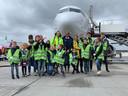 Juniordag voor kinderen van medewerkers van Eindhoven Airport. De dag werd georganiseerd in verband met de staking in het onderwijs.