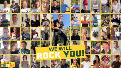 """Daar is de volledige versie: nu laten ook Philipsen en Pogacar zich gaan op """"We Will Rock You"""" in TikTok-video"""