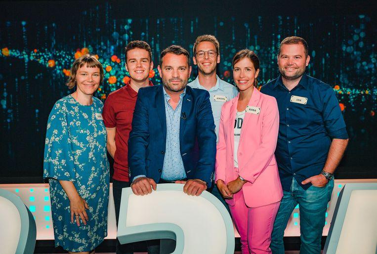Liesbet Ghewy, Jens Willems, Adriaan van den Hoof, Jeroen Van Hecke, Kiana Buttiens en Jan Foré