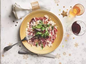 Wat Eten We Vandaag: Carpaccio met frisse salade