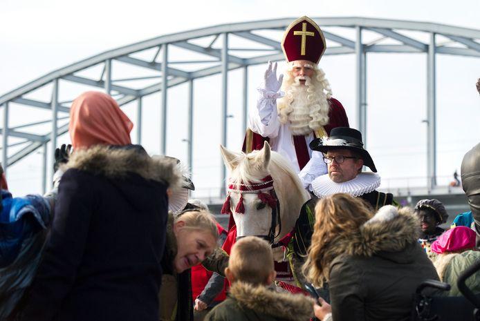 De aankomst van Sinterklaas in Arnhem in 2016.