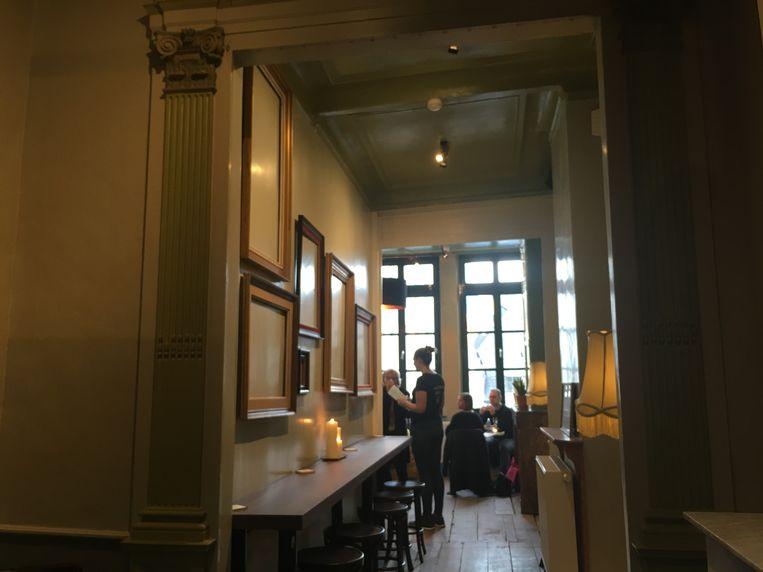 De verbruikszaal van Würst op de bovenverdieping