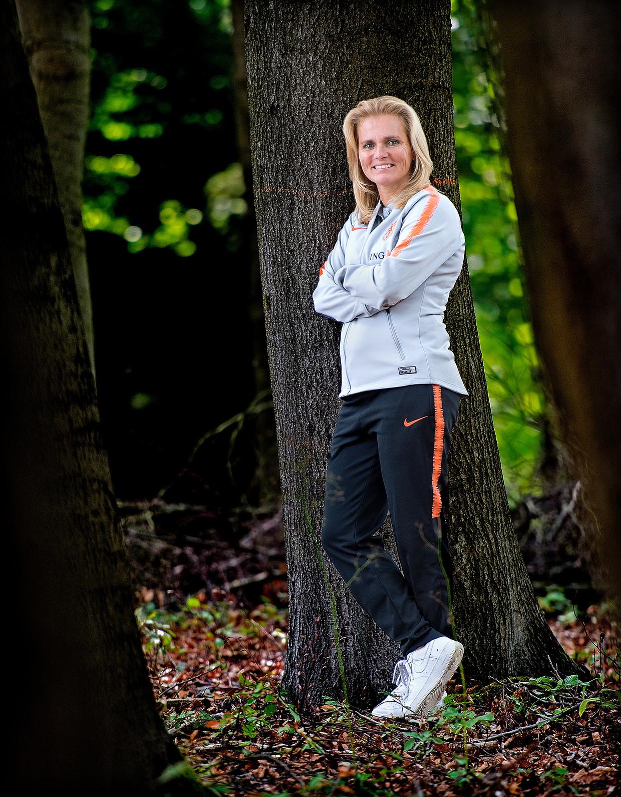 Bondscoach Sarina Wiegman werd in 2017 Europees Kampioen met de vrouwenvoetbalploeg.
