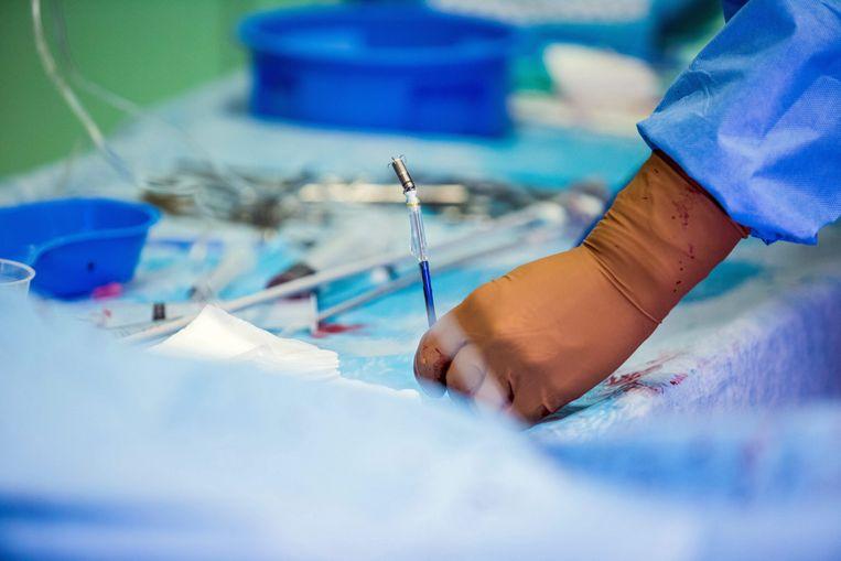 Een chirurg met een pacemaker van slechts 2,4 centimeter lang.  Beeld EPA
