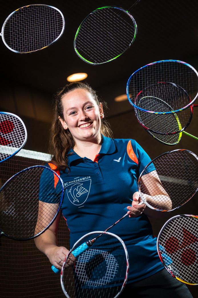 Rinske Deriga, badmintonster en vrijwilliger.