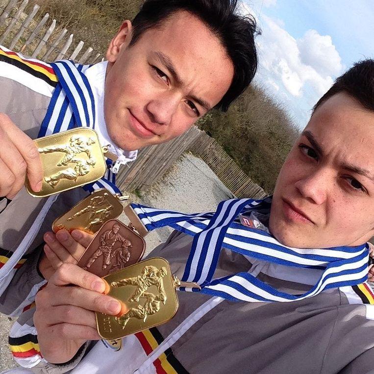 Ian Lodens rechts ( BGT ) en broer Ryan - Belgian National Ju-Jitsu Team World Champion Duo Men U21 (2016, '17, '18)