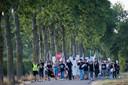 Afgelopen zomer werd nog een protestmars tegen varkenshouderij Knorhof gehouden.