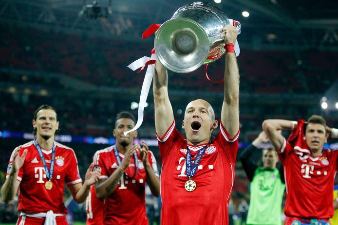 Arjen Robben met de Champions League in 2013.