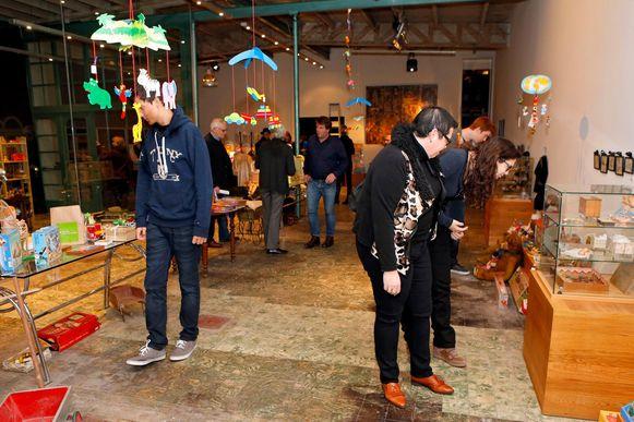 Tijdens de tentoonstelling 'antiek speelgoed' kon de cultuurclub op heel wat volk rekenen.
