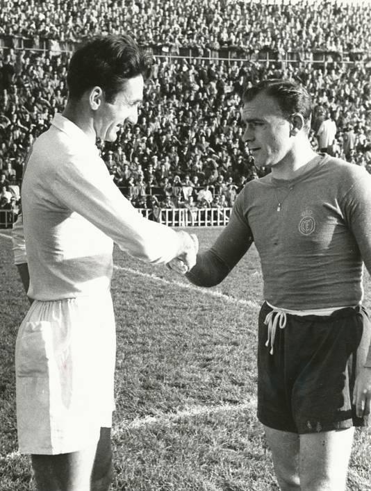 Faas Wilkes met Real Madrid-ster Alfredo Di Stéfano.
