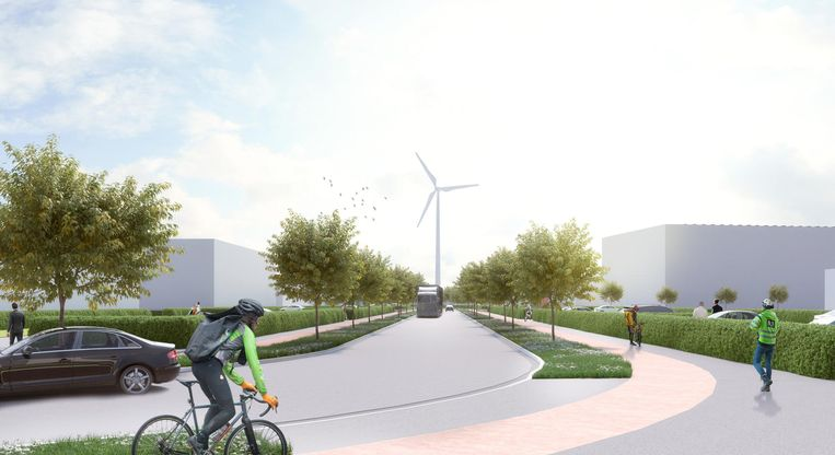 Er zal veel groen worden geïntegreerd op het terrein.