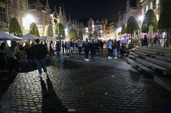 De Oude Markt in Leuven.