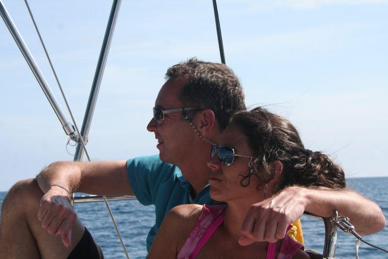 Op vakantie met zijn vrouw Inge Peters Beeld