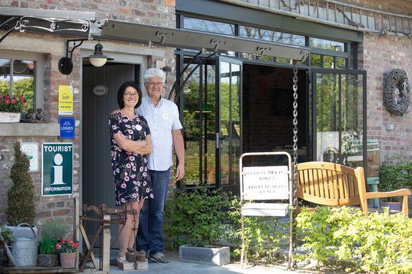Het Eenhoornhof bij Ann en Stéphan in Kuttekoven.