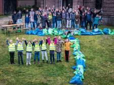In Hengelo is de T van Trash weer gelegd, nog 75.000 zakken zwerfafval te gaan