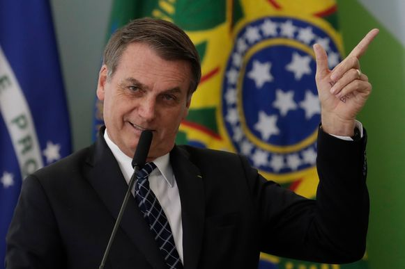 """De extreemrechtse Braziliaanse president Jair Bolsonaro  stelt dat de cijfers over de stijgende ontbossing """"niet overeenstemmen met de realiteit""""."""