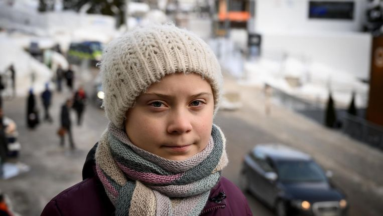 Greta Thunberg: 'Ik ben blij met alle aandacht, maar het gaat om het klimaat, niet om mij' Beeld ANP