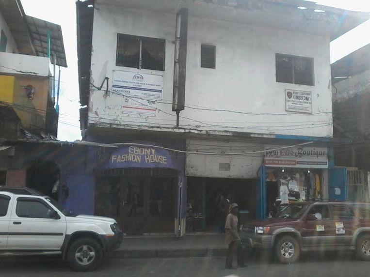 Eén van de vervallen theaters in Monrovia waar in 2018 Kriterion wellicht een nieuwe vestiging krijgt. Beeld Kriterion