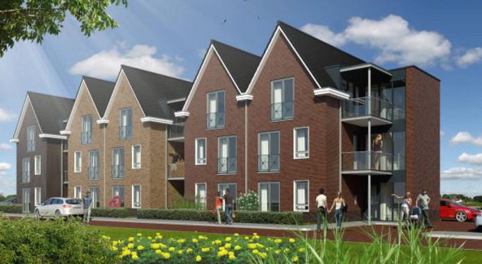 Nieuwe appartementen aan de Ornanjestraat in Tubbergen.
