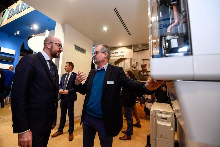 Gisteren bracht premier Michel al een bezoekje aan Batibouw