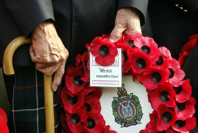 Herdenking op de Airborne Begraafplaats in Oosterbeek.