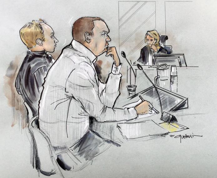 Rechtbanktekening van Richard B.