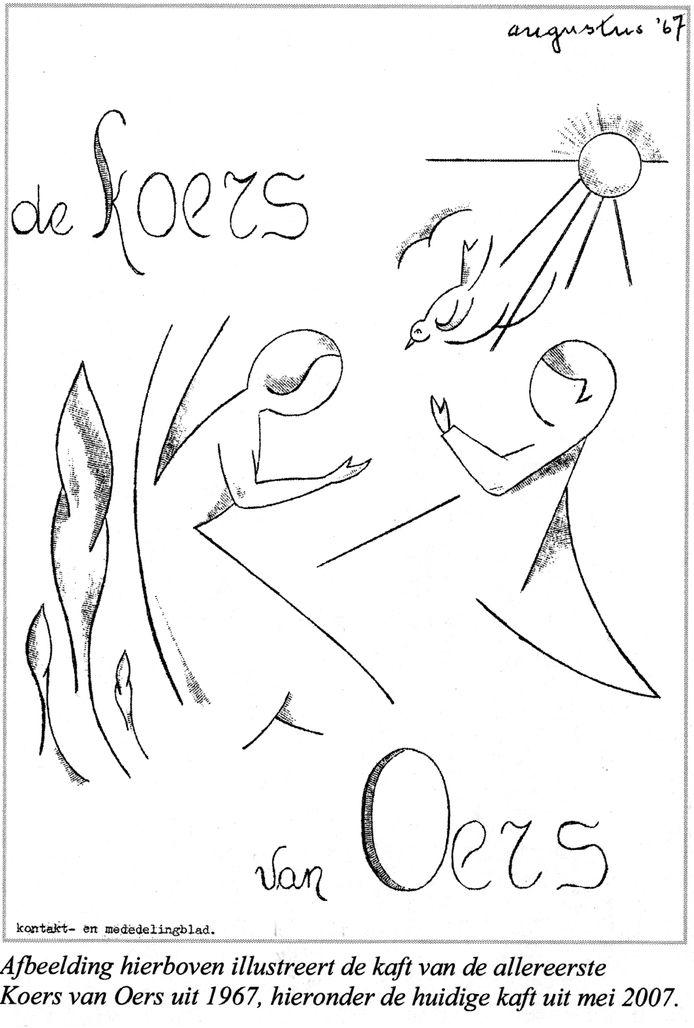 De omslag van de eerste Koers van Oers uit 1967. Ondanks de coronacrisis slaagde het maandblad erin in april 'gewoon' uit te komen.