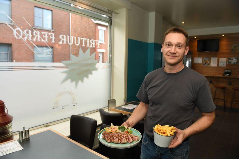 Marcel van Taverne Ferro heeft met zijn kogelbiefstuk de 'Week van de Steak-Friet' gewonnen.