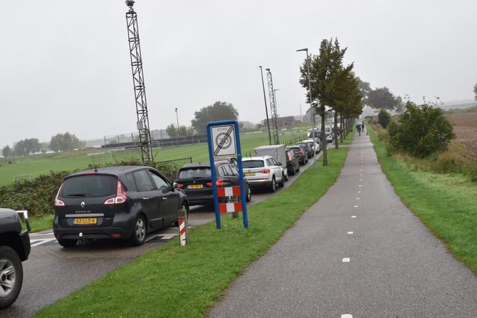 Drukte bij de pont in Brakel door afsluiting A2.