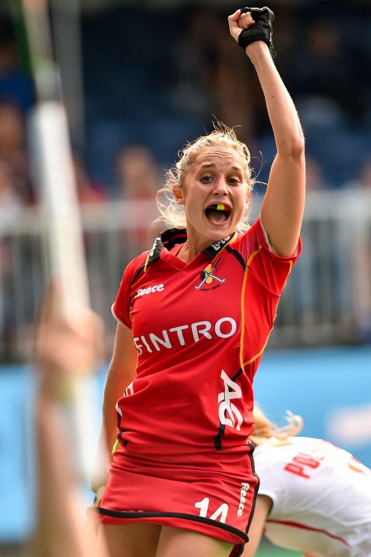 Emilie Sinia opende de score voor de Red Panthers.