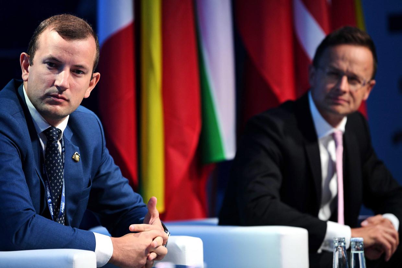 Kersvers EU-commissaris Virginijus Sinkevičius (links)