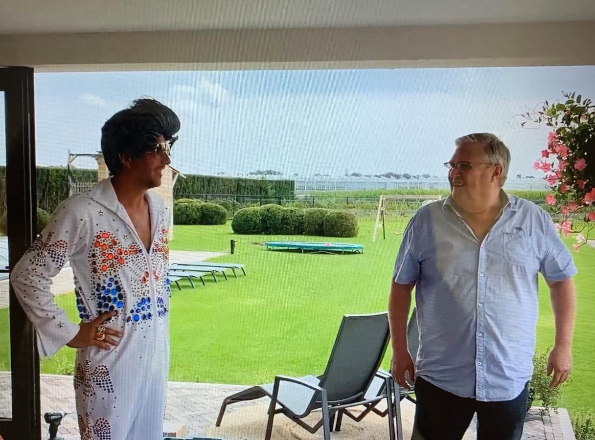 Dirk van Diepen met Elvis-imitator Jeroen Engelen.