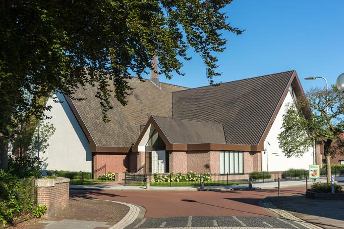 Het kerkgebouw van de Gereformeerde Gemeente in Kruiningen.