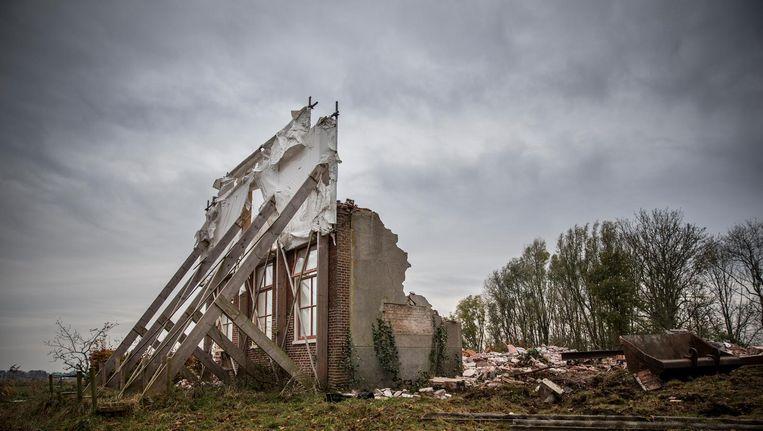 De voorgevel van de boerderij uit 1839. Beeld Piet Hein van der Hoek