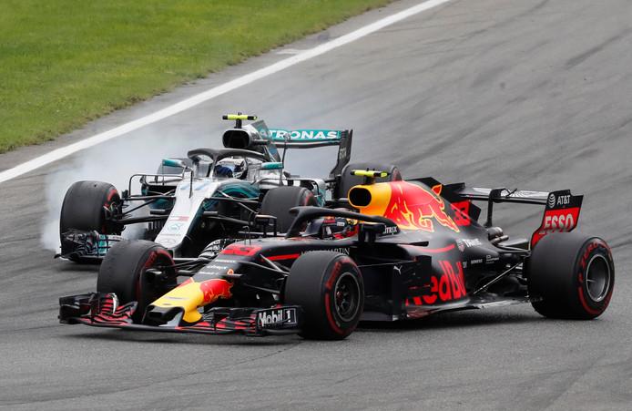 Max Verstappen en Valtteri Bottas