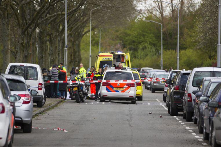 De Veurnestraat in Breda na het ongeluk. Beeld anp