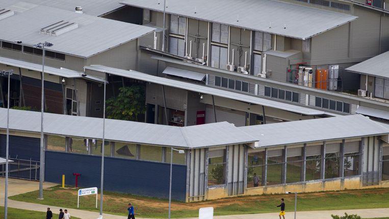 Het detentiecentrum op Christmasen Island. Beeld getty