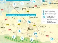 In Tilburg en omgeving is plaats voor nog 30 windmolens, en hier komen ze