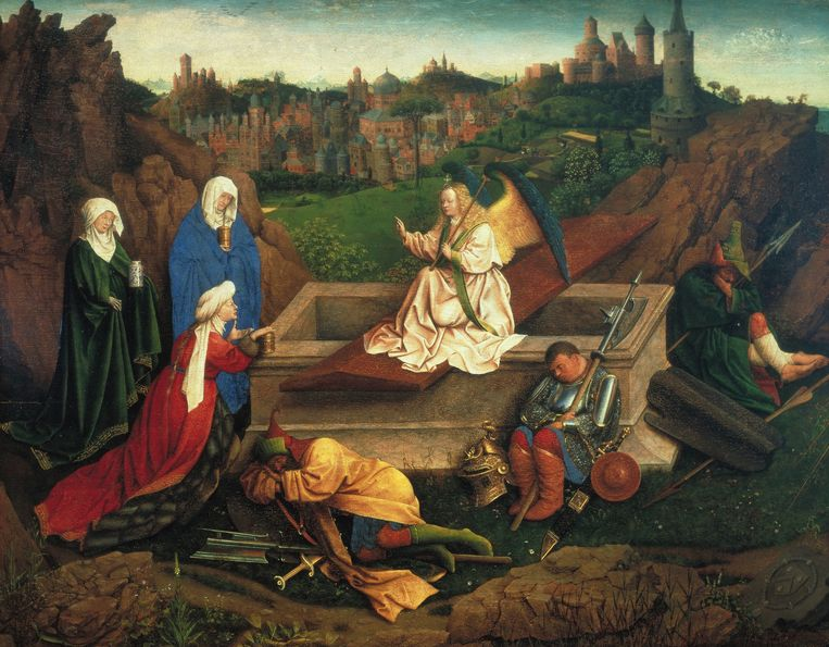 De drie Maria's aan het graf.   Beeld