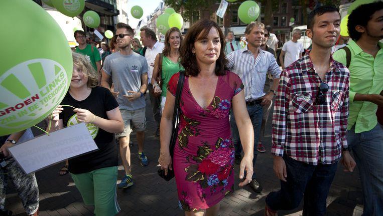 GroenLinks komt uit de CPB-berekeningen naar voren als de meest duurzame partij. Al is dat wel bij afwezigheid van de Partij voor de Dieren. Beeld ANP