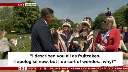 Beruchte stoïcijnse BBC-reporter geeft schijnbaar geen sikkepit om Royal Wedding