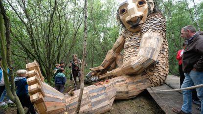 Gigantische trollen duiken op in De Schorre: kunstwerk is geschenk van Tomorrowland ter ere van 15de verjaardag