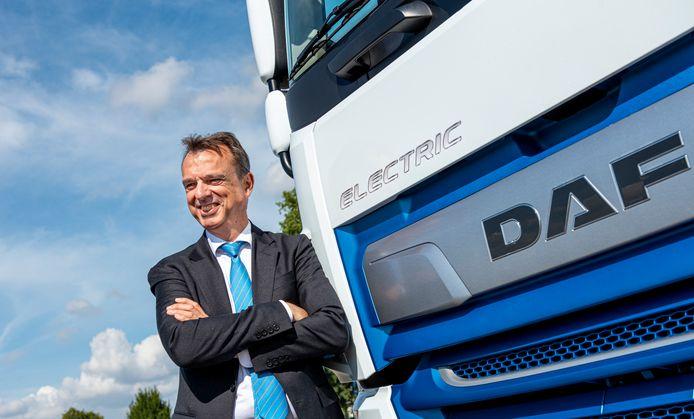 Ron Borsboom: De elektrische truck zou in de toekomst in bereik kunnen verdubbelen tot 400 kilometer.