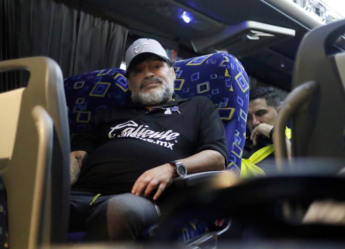 Diego Maradona tegenwoordig als coach van Dorados.