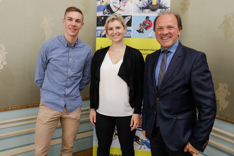 Swings en Degrendele werden gehuldigd door minister van Sport Philippe Muyters.