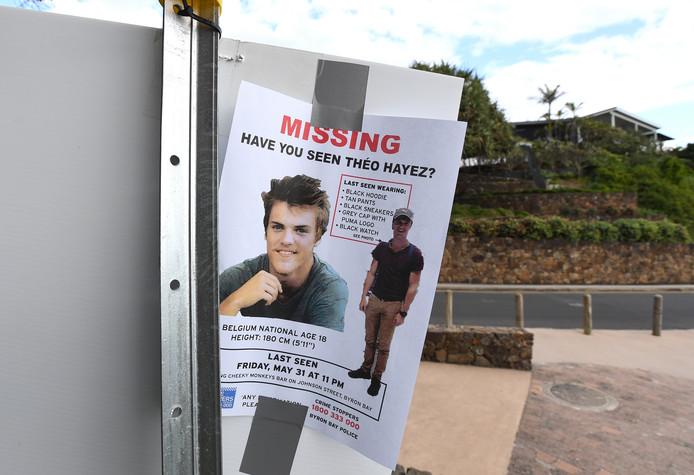 Théo Hayez a disparu le 31 mai à Byron Bay, en Australie.
