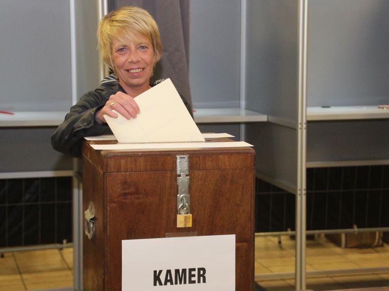 Anja Vanrobaeys bracht haar stem uit in Erpe.