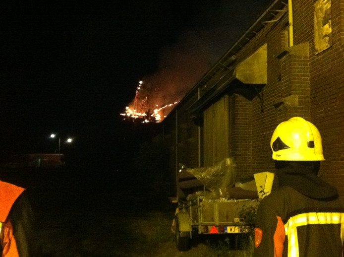 De brandweer in actie.