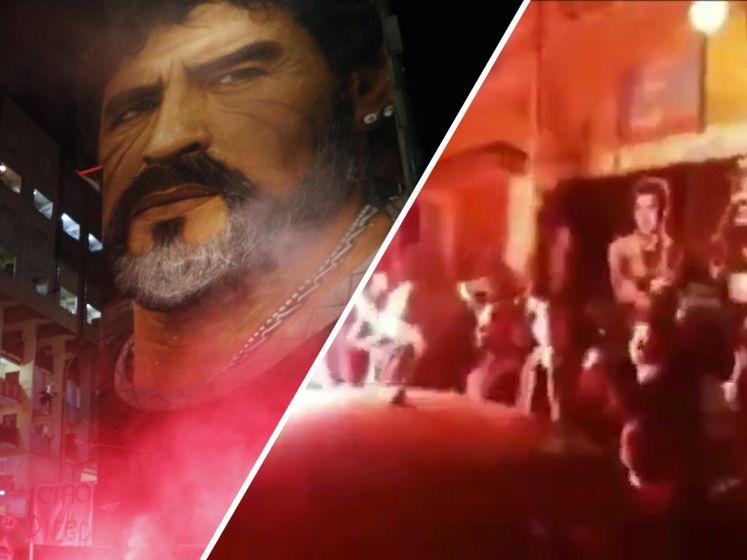 Napels huilt om overlijden Maradona